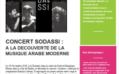 Concert Sodassi à La Dynamo