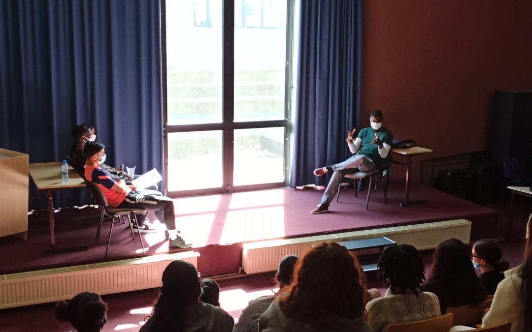 Intervention au lycée de Balla Fofana, journaliste au quotidien «Libération»